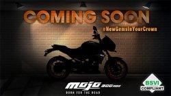 Mahindra Mojo Bs6 Model Launching Soon Brand Releases Teaser Via Social Media