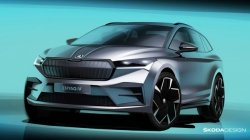 Skoda Enyaq Iv Electric Suv Design Sketches Officially Revealed Here Are The Details