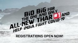 First New Mahindra Thar Offroad Suv To Be Auctioned For Charity Details