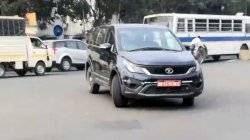 Tata Hexa Bs6 Spy Pics 4x4 Muv Spotted Testing In Pune Ahead Of Launch Details