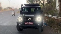 New Force Gurkha Spy Pics Near Production Suv Spotted Testing With Accessories Details