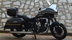 Royal Enfield Thunderbird Modified Into Harley Davidson Cvo Here Are The Pictures