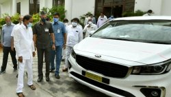 Kia Carnival 32 Units Given By Telangana Chief Minister To State Collectors