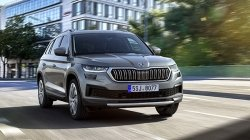 2021 Skoda Kodiaq Spy Pics Spotted Undisguised First Time Ahead Of India Launch
