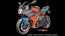 2021 Ktm Rc 390 Official Images Leaked Ahead Of India Launch Design Tft Screen Adjustable Suspension