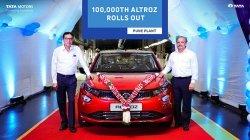 Tata Motors Celebrates 1 Lakh Unit Rollout Milestone Of Tata Altroz