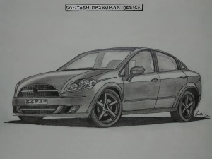 Fiat Linea Sketch: How Elegant Is The Fiat Linea Elegante?