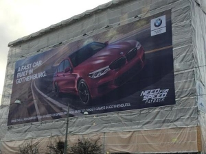 BMW Trolls Volvo In Its Own Hometown With Massive M5 Ad — Are The Billboard Wars Back?
