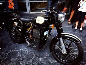 Royal Enfield Electric Motorcycle Showcased At Company's Thailand Showroom