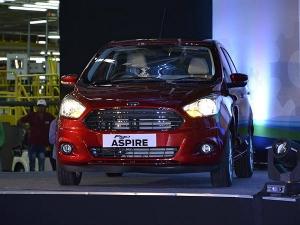 Ford Reveals Figo Aspire At Its Sanand Facility!