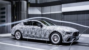 Mercedes-AMG GT Wind Tunnel Test Teaser Images Reveal The Coupe's Aerodynamic Qualities