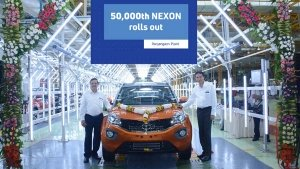 Tata Nexon Achieves 50,000 Units Production Milestone Since Launch