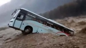 Manali Floods: Tourist Bus Falls Into Beas River — Watch The Shocking Video!
