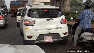 EXCLUSIVE: Mahindra KUV100 NXT AMT Spotted Testing In Bangalore