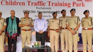 Hero MotoCorp Inaugurates Children's Traffic Training Park At Rachakonda In Hyderabad