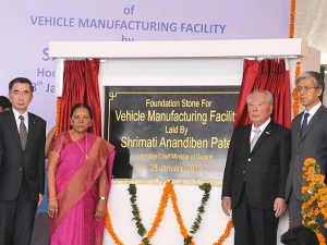 Suzuki lay Foundation Stone In Gujarat!