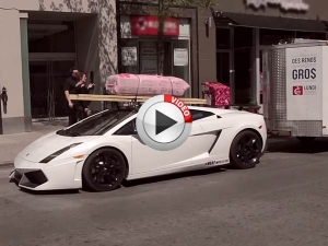 Video: Would You Use A Gallardo To Tow A Trailer?