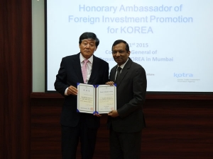 Dr. Pawan Goenka Is Honorary Ambassador For Korea!