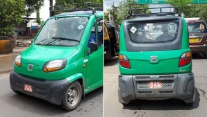 Bajaj Qute CNG Variant Spotted Testing In India