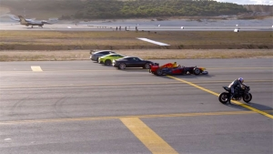 Ninja H2R Drag Race With F1 Car & Fighter Jet