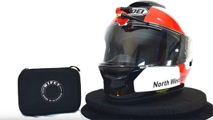 An Electric Helmet Wiper For The Monsoon