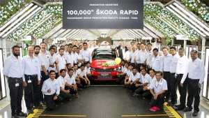 Skoda India Rolls Out One Hundred Thousandth Rapid