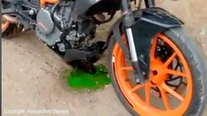 KTM Duke 390 Engine Case Breaks Apart