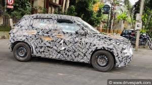 Citroen CC21 Compact-SUV Spied Testing In Bangalore