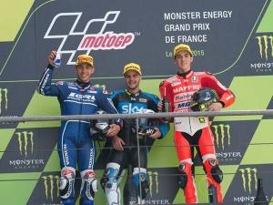 Mahindra On Podium In Moto3 French GP With Francesco Bagnaia