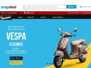 Piaggio Vespa Launches Online Store Through Snapdeal
