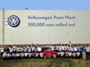 Volkswagen India Production Landmark Of 5,00,000th Manufactured Cars