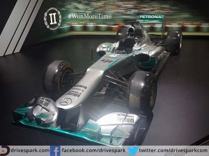 Auto Expo: Mercedes AMG W04 F1 Car On Display