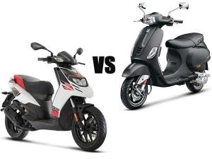 Aprilia SR 150 vs Vespa 150: We Compare The Only Two 150cc Automatic Scooters In India