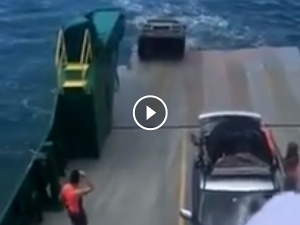 Video: Car Rolls Off Ferry And Sinks Into The Ocean With A Lot Of Valuables