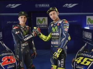 Valentino Rossi And Maverick Vinales Unveils 2017 Movistar Yamaha YZR-M1