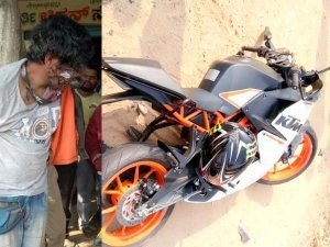 KTM RC390 Crashes Into A Child — Mob Thrashes Bikers And Destroys Bikes