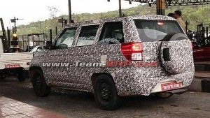 New Mahindra TUV300 Plus BS-VI Model Spied Testing — Launch Expected Soon