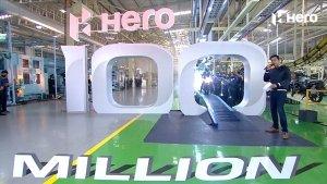 Hero MotoCorp Achieves 100 Million Production Milestone: Unveils Six Celebration-Edition Models