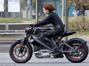 Harley Davidson Electric Motorcycle At Avengers: Age Of Ultron Set