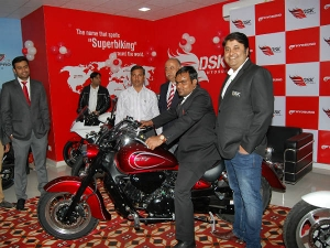 DSK Hyosung Rider Zone Showroom Inaugurated In Jaipur