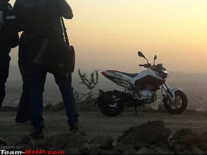 Benelli TNT 135 Minibike Spotted During Photoshoot; Launch Imminent