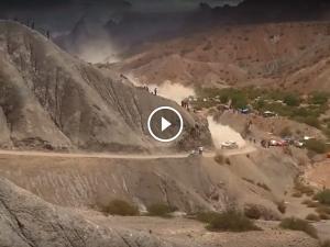 Dakar 2017: Carlos Sainz Tumbles Down; Nearly Takes Out Two Spectators