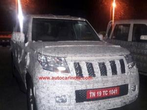 Spy Pics: Mahindra TUV 500 (TUV Long Wheelbase) Spotted Testing; Engine Revealed