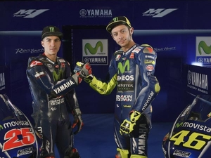 Valentino Rossi And Maverick Vinales Unveils 2017 Movistar Yamaha YZR-M1