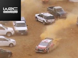 WRC Rally Mexico: Kris Meeke Wins Despite Drifting Through Car Park