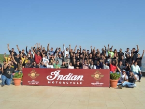 Indian Motorcycle Riders Group Rides Out For The Girl Child
