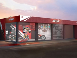 Mahindra Mojo's First Exclusive Dealership Revealed In A Sketch