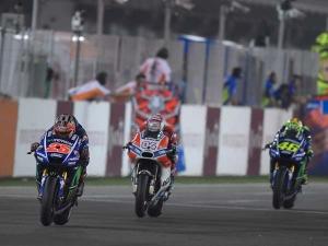 Maverick Vinales Wins Moto GP Season Opener On Yamaha Debut As Rossi Battles To The Podium