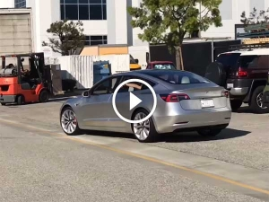 Tesla Model 3 Prototype Spotted Testing