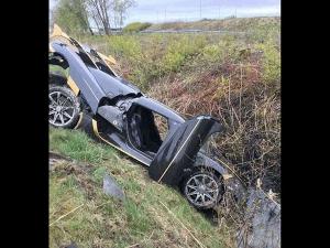 Ultra-Rare Koenigsegg Agera RS Crashes